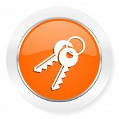 keys orange computer icon