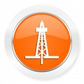 drilling orange computer icon