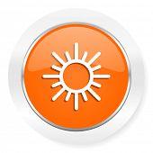sun orange computer icon