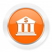 bank orange computer icon