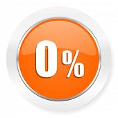 0 percent orange computer icon