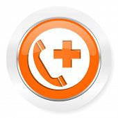 emergency call orange computer icon