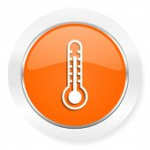 thermometer orange computer icon