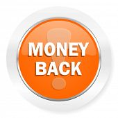 money back orange computer icon