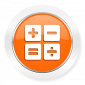 calculator orange computer icon