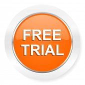 free trial orange computer icon