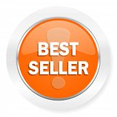 best seller orange computer icon