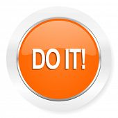 do it orange computer icon