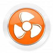 fan orange computer icon