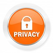privacy orange computer icon