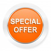 special offer orange computer icon