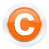 copyright orange computer icon