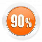 90 percent orange computer icon