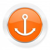 anchor orange computer icon