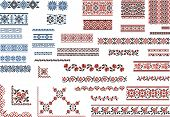 Set of Patterns for Embroidery Stitch