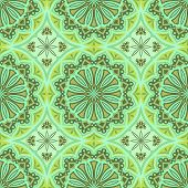 Seamless green abstract geometric vector wallpaper.