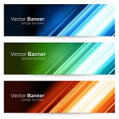 Abstract trendy vector banner or header set
