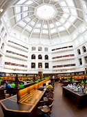 MELBOURNE, AUSTRALIA - July 3, 2014: La Trobe reading room at the State Library of Victoria in Melbo