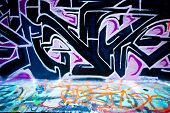 MELBOURNE, AUSTRALIA - JULY 3 2014: Street art by unidentified artist. Melbourne's graffiti manageme