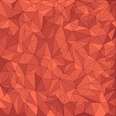 Abstract red vector mosaic pattern. Vector pattern with paper texture. Vector abstract background