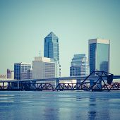 Downtown Jacksonville, Florida with Filter Effects.