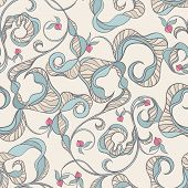 Floral Abstract Beige Pattern