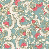 Floral Abstract Turquoise Pattern