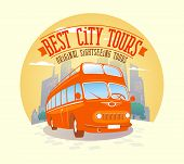 Best city tours design illustration.