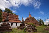 Temple In Thailand Is Named Wat Ratchaburana,phitsanulok