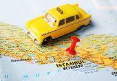 Istanbul ,turkey  Map Taxi