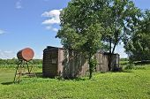 Railroad Boxcar and Fuel Tank