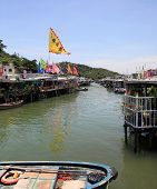 canal and stilt houses of Tai O, Hong Kong