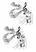 Abstract musical designs