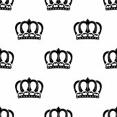 Seamless pattern of royal crowns