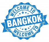 Welcome To Bangkok Blue Vintage Isolated Seal