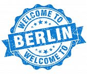 Welcome To Berlin Blue Vintage Isolated Seal