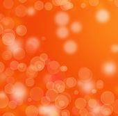 Abstract Orange Bokeh Background