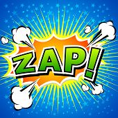 Zap! Comic Speech Bubble, Cartoon.