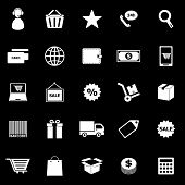 E-commerce Icons On Black Background