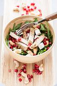 Delicious Rucola Salad With Turkey