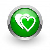 love green glossy web icon