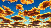 Golden Yellow Fantasy Clouds