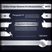 Silver Design Elements For Documentation Set5