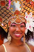 ROTTERDAM, THE NETHERLANDS - JULY 19, 2014, Carnival dancer at the street parade at the Summer Carnival in Rotterdam on July 19 in Rotterdam, The Netherlands
