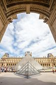 Paris - June 23: Louvre museum on June 23, 2014 in Paris. This is one of the most popular tourist de
