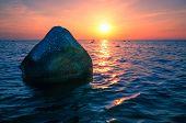 Baltic Sea sunset on the island Poel