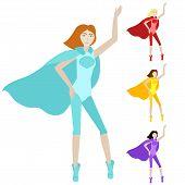 Cartoon Character Hero Woman.