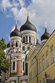 Alexander Nevsky Cathedral in old town Tallinn, Estonia