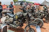 FARO - JULY 19: motorcycle exhibition at the XXXIII - International Motorcycle Meeting in Faro, Portugal, July 19, 2014