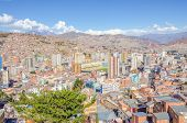 LA PAZ, BOLIVIA, MAY 8, 2014 - General view of town from view point